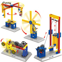 New Teaching Machinery Group Building Blocks Lifts &Carousel Children s Educational Toys Gifts