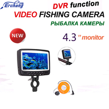 "Promotion Erchang 8 LED HD 4.3 "" Monitor Underwater Video Fishing Cam System Visual Fish Finder With Video Recording Function"