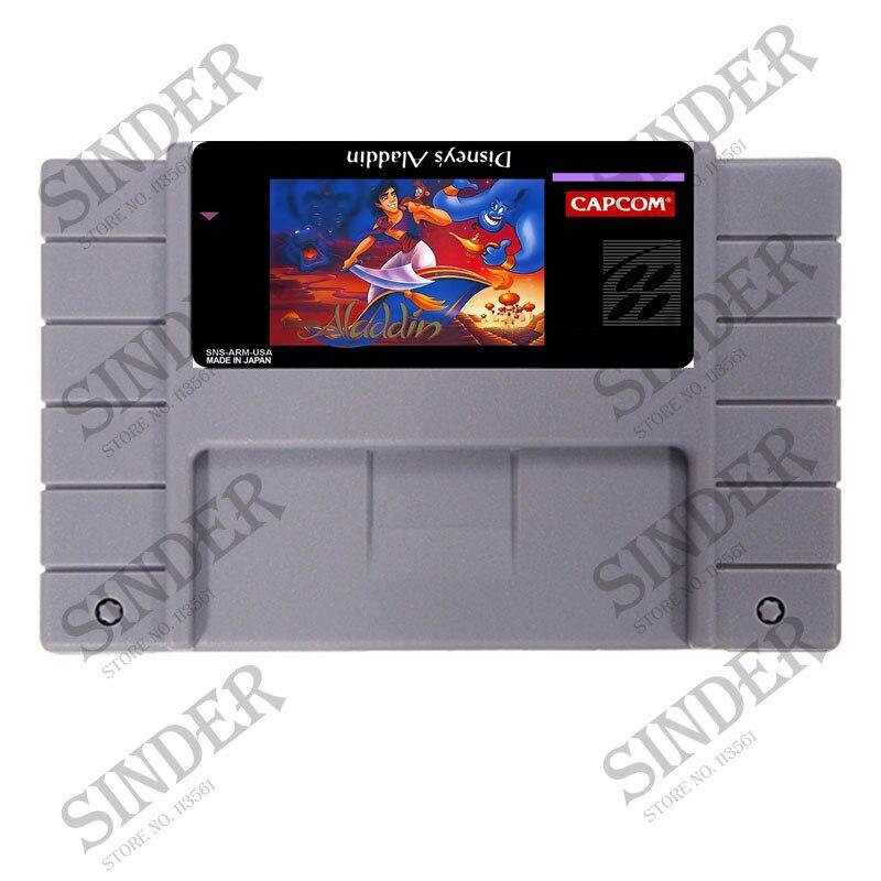 Aladdin 16 bit Big Gray Game Card For USA NTSC Game PlayerAladdin 16 bit Big Gray Game Card For USA NTSC Game Player