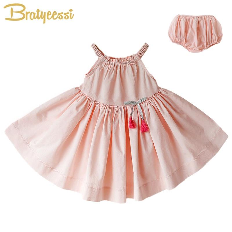 New Summer Baby Dress Cotton Sarafan Infant Girl Dresses A-Line Vestido Infantil Baby Girl Summer Clothes for 6-24M 1 Set