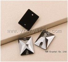 Jet Hematite 3250 Rectangle 13x18mm 18x25mm Sew On Stones Flat back Sewing Crystal Rhinestone Paste Garment Beads