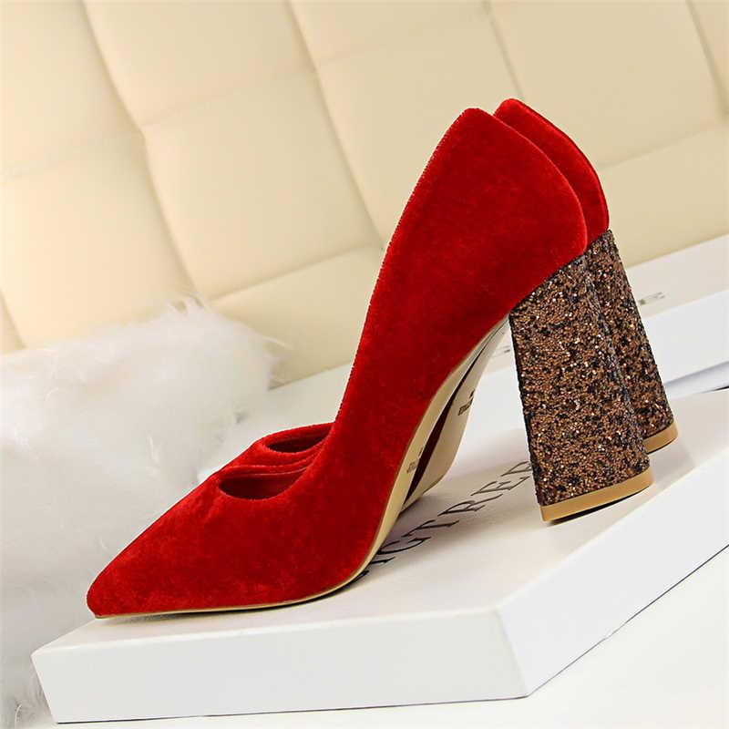 9ab1f0188 ... Фетиш Обувь на высоком каблуке женские свадебные туфли zapatos mujer  tacon итальянские туфли-лодочки Роскошные ...