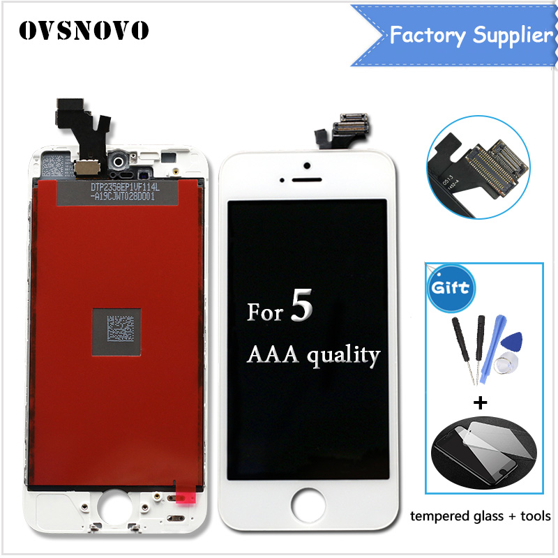 AAA Quality For iPhone 5S 4S 5 6p LCD Touch Screen Assembly 100% Brand New Display LCDs for iphone 6 Screen+Tempered film+Tools