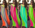 2016 Hot Fashion Chiffon loose one-piece Dress Saty bohemia maxi casual women dresses pleated print Vestidos Sukienka Jurk