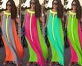 2016 Hot Fashion Chiffon loose one-piece Dress Saty bohemia maxi casual women dresses pleated print Vestidos Sukienka Jurk