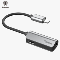 Baseus Aux Audio Cable Adapter For IPhone 7 7s 3 5mm Jack Earphone Headphone Adapter USB