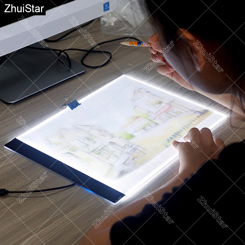 Ultrathin 3.5mm <font><b>A4</b></font> <font><b>LED</b></font> <font><b>Light</b></font> <font><b>Tablet</b></font> <font><b>Pad</b></font> Apply to EU/UK/AU/US/USB Plug Diamond Embroidery Diamond Painting Cross Stitch XSH image