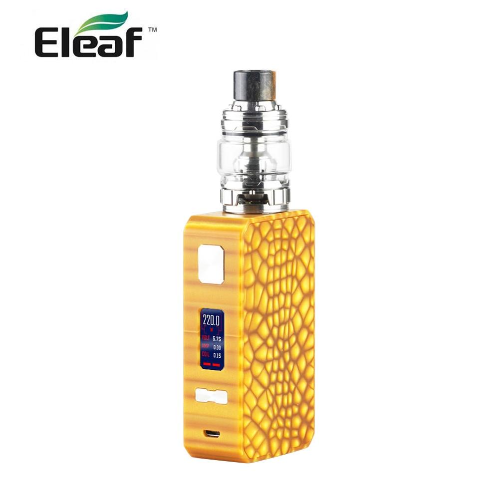 Оригинальный Eleaf Saurobox комплект с Элло Дуро Танк 6,5 мл с HW M катушки 220 Вт Выход электронная сигарета vape комплект