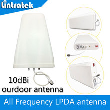 Outdoor Antenna 10dbi Log-periodic Antenna N Type Connector 800-2500hz for 3G CDMA GSM UMTS  LTE Phone Signal Booster Repeater  все цены