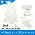 Antena externa 10dbi Antena Log-periódica Antena N Conector do Tipo 800-2500 hz para 3G CDMA GSM UMTS LTE Telefone Repetidor de Sinal de Reforço