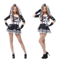 New Halloween Movie Corpse Bride Costume Women Zombie Scary Role play Cosplay Easter Thanksgiving Day Carnival Masquerade dress