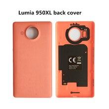 Funda trasera genuina de MOZO para Microsoft lumia 950 XL PU NFC + QI WLC carcasa para Nokia lumia 950 xl cubierta de batería mozo lumia