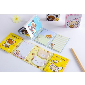 Image 4 - 12 sztuk/partia Cartoon Rilakkuma kapelusz 6 składane Memo Pad N razy karteczki Memo notatnik zakładki prezent biurowe