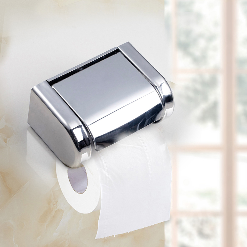 Luxury Bathroom Paper Holder Stainless Steel Wall Mount Paper Holders And Hook Toilet Roll Tissue Rack stainless steel toilet paper holder papier toilette encastrable wall mount wc paper holder bathroom roll paper holder basket