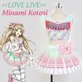 Japanese Anime Love Live Pink Minami Kotori Cosplay Costume Lolita Cheerleading Uniforms Plus Size customized Costume