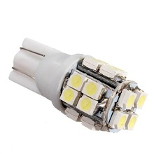 2W DC12 white T10 3528 20SMD led light led lamp light Clearance Lights Lamp Car License Plate Lights Door Lamp 2PCS JTCL046-1-ly