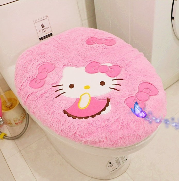 Aliexpress.com : Buy Hot Sale Hello Kitty Bathroom Set Toilet Set Cover Wc  Seat Cover Bath Mat Holder Closestool Lid Cover 4pcs/set From Reliable  Toilet Set ...
