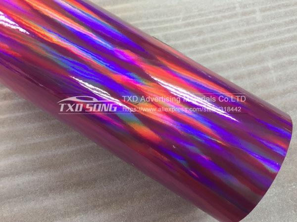 30 см X 152 см/лот голографическая Автомобильная виниловая пленка для украшения кузова автомобиля с воздушными пузырьками, автомобильная наклейка - Название цвета: PINK