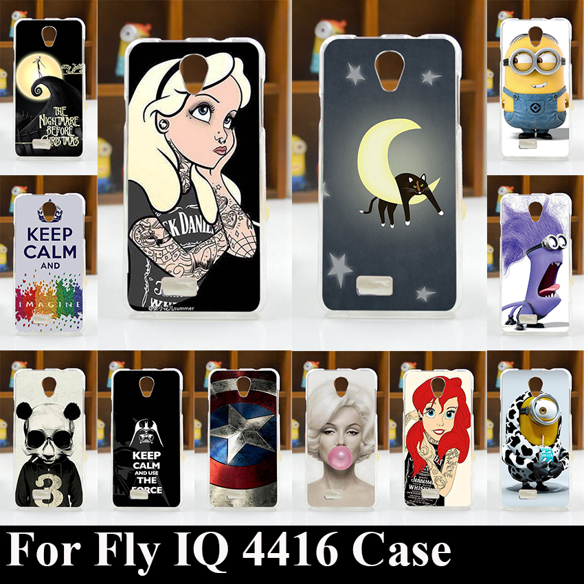 Case FOR Fly IQ 4416 Era Life 5 Soft Tpu Colorful Printing Drawing Transparent Plastic mobile phone Cover Hard Phone Cases