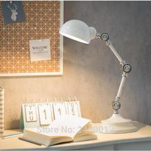 Estilo nórdico LED Metal Robot lámpara de mesa brazo oscilante escritorio lectura escritorio lámpara de noche alta calidad luces de escritorio