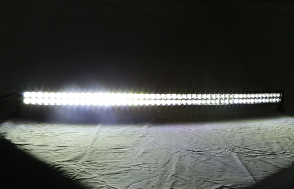 52inch 300W White Green Dual Color Switched Strobe Led Curved Light Bar Spot Flood Combo For Off-Road Driving Truck Jeep Hunting