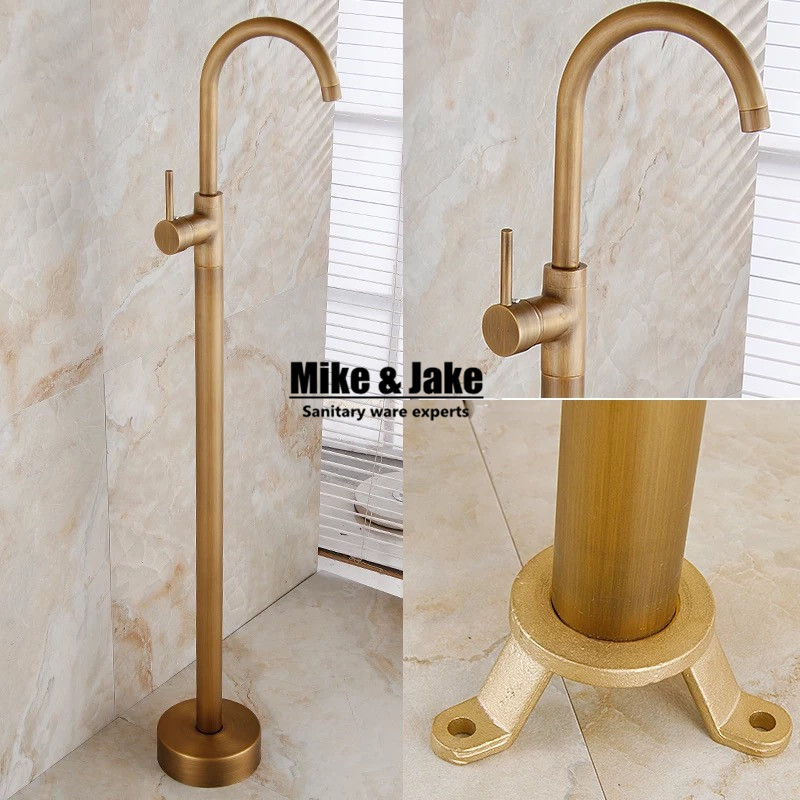 Antique Floor Stand basin faucet bathtub stand tap Shower Mixer Brass Shower set Luxury Bathtub Tap mizumi airbone zt 702pa оранжевый