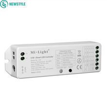 Milight 2.4G Wireless WIFI Control 5 IN 1 Smart LED Controller DC12V 24V Controller For Single Color CCT RGB RGBW LED Strip