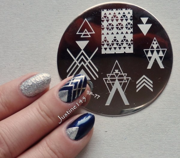 BORN PRETTY Negative Space Nail Art Stamping Stamp Template Image Plates Cool Triangle Nail Stamp Plate BP77