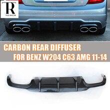 W204 C63 углеродного волокна рассеиватель задней губы спойлер для Benz W204 c-класса C200 C220 C260 C300 Спорт бампер и C63 AMG 2012 2013