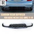 W204 C63 задний спойлер из углеродного волокна для Benz W204 C-Class C200 C220 C260 C300 Sport Bumper & C63 AMG 2012 2013 2014