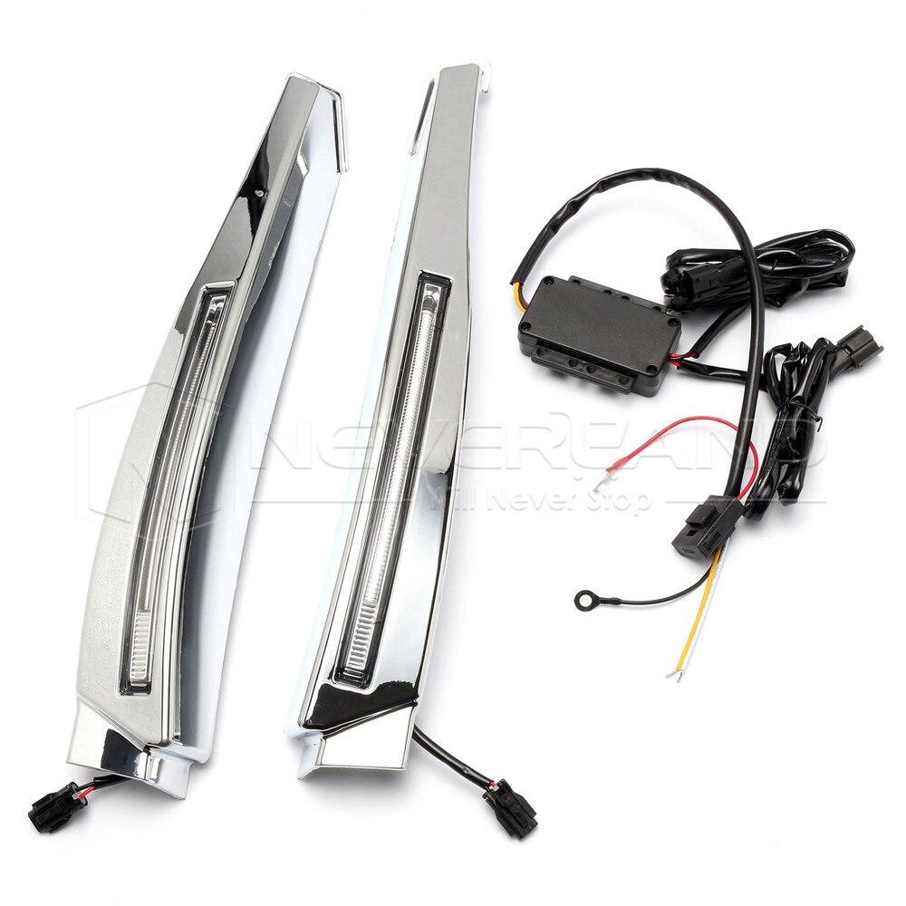 High Quality LED Daytime Running Light For Jaguar XF 2008 2010 Waterproof Chrome 12V DRL Fog
