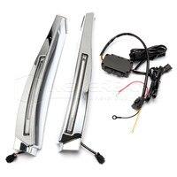 High Quality LED Daytime Running Light for Jaguar XF 2008 2009 2010 Waterproof Chrome 12V DRL Fog Lamp Decoration D25