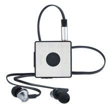 HM2010 мини-клип Bluetooth 4.0 гарнитура беспроводные наушники стерео наушники адаптер приемник встроенный FM радио громкой связи