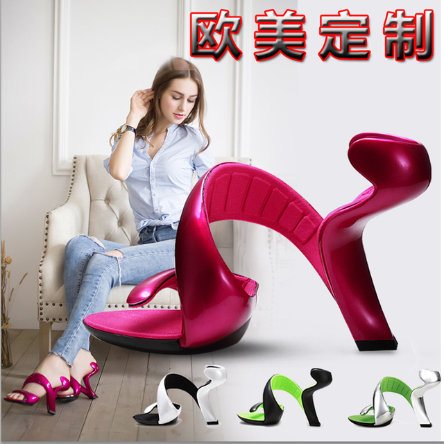 New Fashion Bottomless Snake High Heels Platform Sandals Shoes
