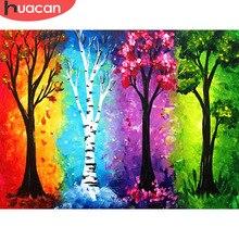 HUACAN 2019 New Diamond Painting Season Tree Landscape Mosaic Resin Drill Embroidery Beadwork