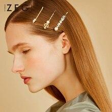 ZEGL crown web celebrity hairpin one word clip three-piece set headdress fringe