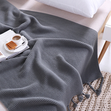 chunky knit weighted throw blanket for bed sofa soft aircondition blankets adult solid Bedspread spring autumn