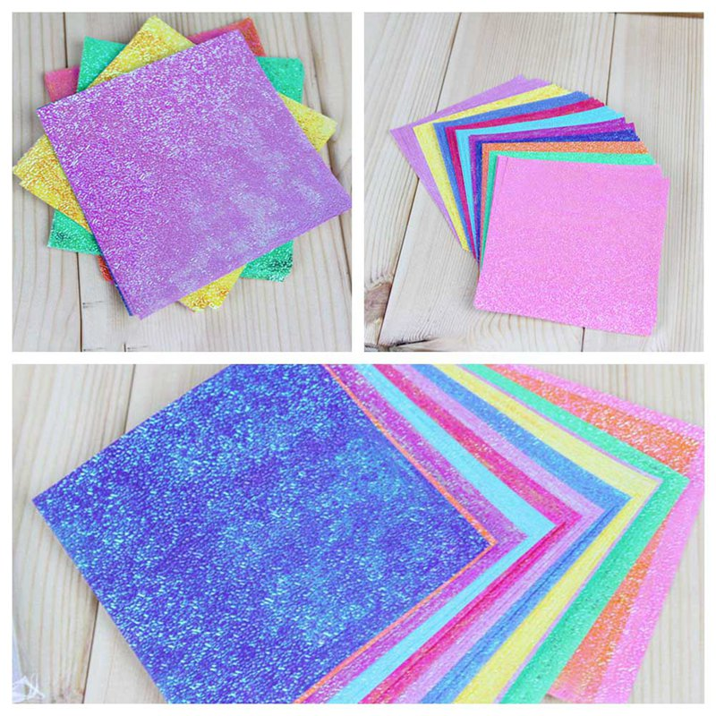 New 50pcs Origami Handmade Paper Pearl Pure Color Shining Papel Mix 10 Colors Scrapbook Romantic For Lovers Gift 3 Styles