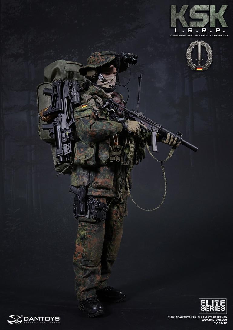DAMTOYS DAM 78039 German Soldier KSK Special Forces LRRP Long-range Reconnaissance Patrol Action Figure Model фигурка planet of the apes action figure classic gorilla soldier 2 pack 18 см