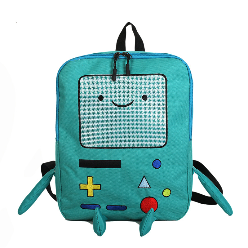 Japan And South Korea Cute Cartoon Cute Adventure Time Backpacks Funny Personality Stereo Student Bag Large Capacity Travel Bag south korea stationery creative cartoon cute kitten pu wallet key bag storage material