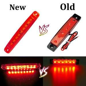 Image 5 - 10 шт. красный 24 в 9 автомобильный светодиодный SMD автомобильный автобус грузовик боковой маркер индикатор низкий светодиодный светильник для прицепа задняя боковая лампа