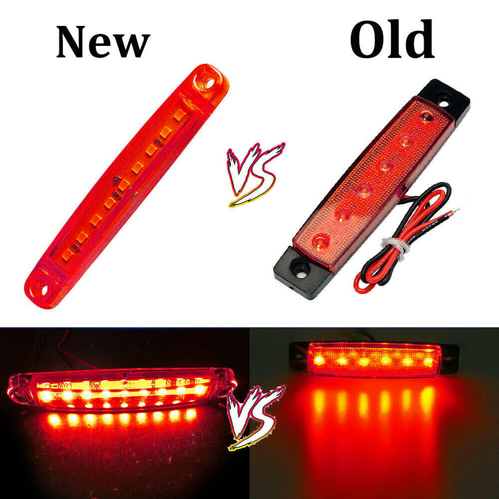 Image 5 - 10pcs Red 24V 9 SMD LED Auto Car Bus Truck Lorry Side Marker Indicator low Led Trailer Light Rear Side Lamp-in Truck Light System from Automobiles & Motorcycles