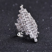 Women Zirconia Ring Fashion Wedding Jewelry Female Engagement Crystal Silver Party New Gift