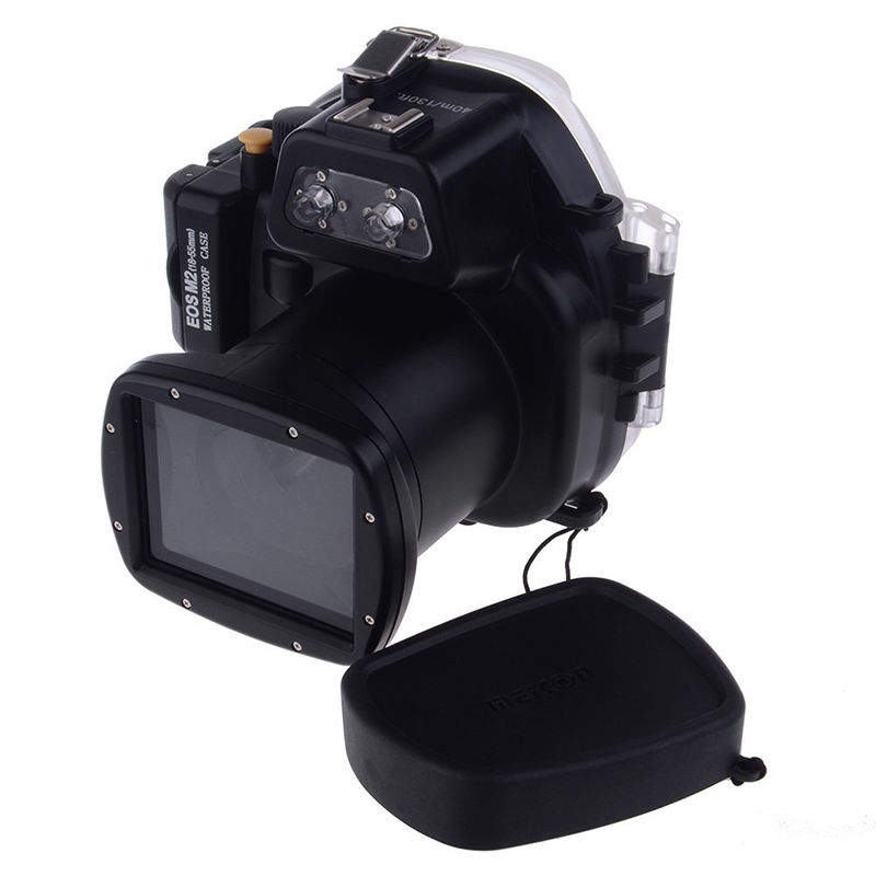 Meikon 40M Waterproof Underwater Camera Housing Case for Canon EOS M2 18-55 Lens