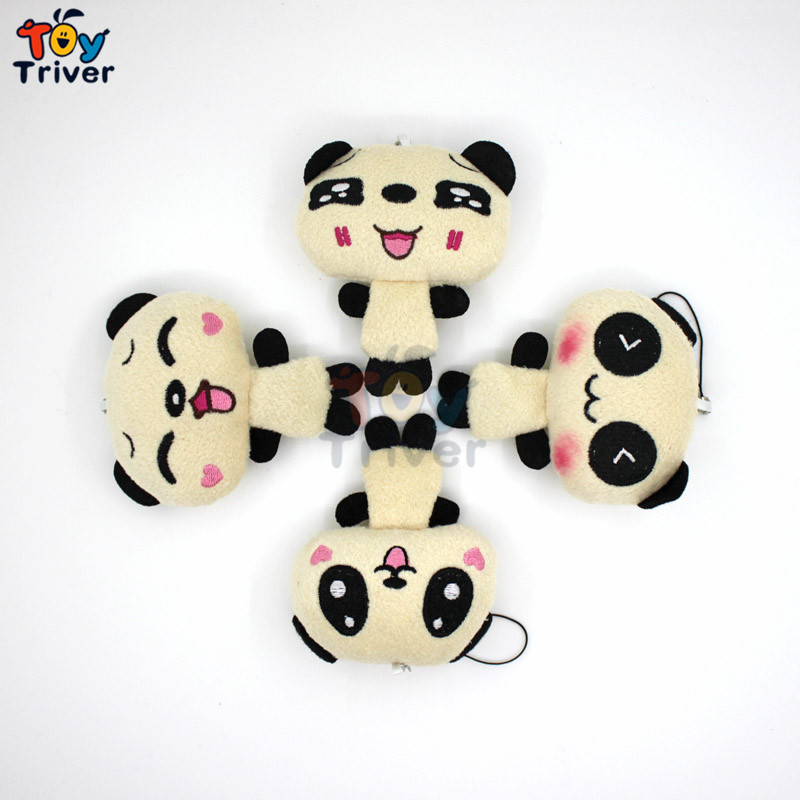 Wholesale 100pcs Cute Panda Doll Plush Toys Bag Purse Keychain Pendant Birthday Christmas wedding Party Small Gift Triver Toy 40cm super cute plush toy panda doll pets panda panda pillow feather cotton as a gift to the children and friends