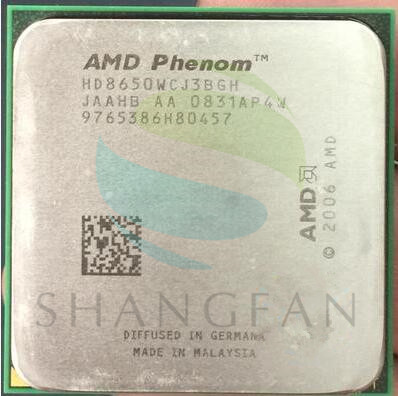 Frete grátis para Phenom X3 8650 Triple-Core de DeskTop CPU 2.3 GHz Soquete HD8650WCJ3BGH AM2 +/940pin