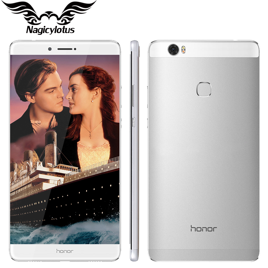 Original Huawei Honor NOTE 8 4G LTE Octa Core 2.5GHz 6.6 inch 2560*1440 Screen 4GB 64GB Metal Body 4500mAh Battery Mobile Phone
