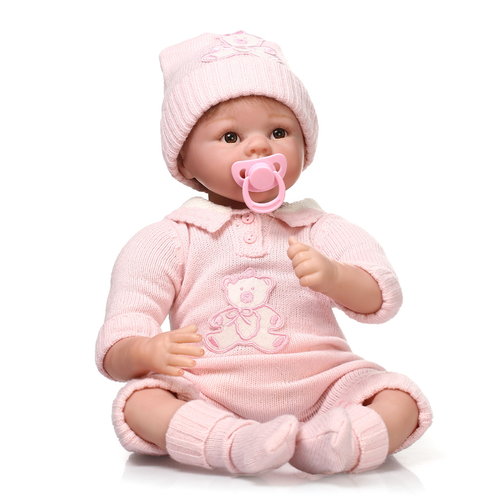 NPK COLLECTION Silicone baby reborn dolls lifelike soft body newborn girl babies simulation doll toy for child birthday gift silicone reborn baby dolls toy lifelike exquisite soft body newborn boys babies doll best birthday gift present collectable doll