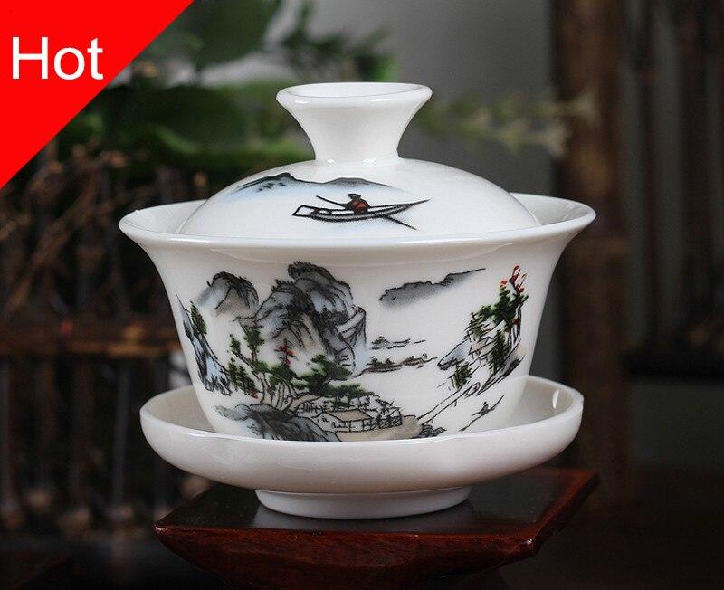 Traditional China Bone Gaiwan Bowls 1