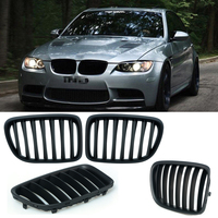 1 Pair Upgrade Euro Sport Matt Black Front Slat Grilles SUV Kindly Grill For BMW E84 X1 2010 2015 Car Styling P8